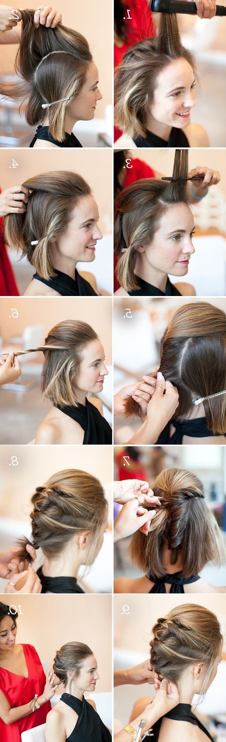 How To : Textured French Twist Stepstep – Daily New Fashions Inside Updo Hairstyles For Bob Hairstyles (View 8 of 15)