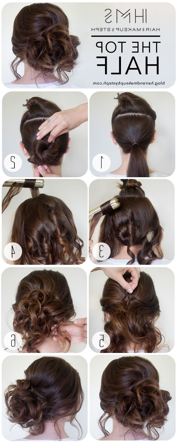 How To: The Top Half | Prom, Hair Style And Prom Hair With Easy Updos For Long Curly Hair (View 12 of 15)