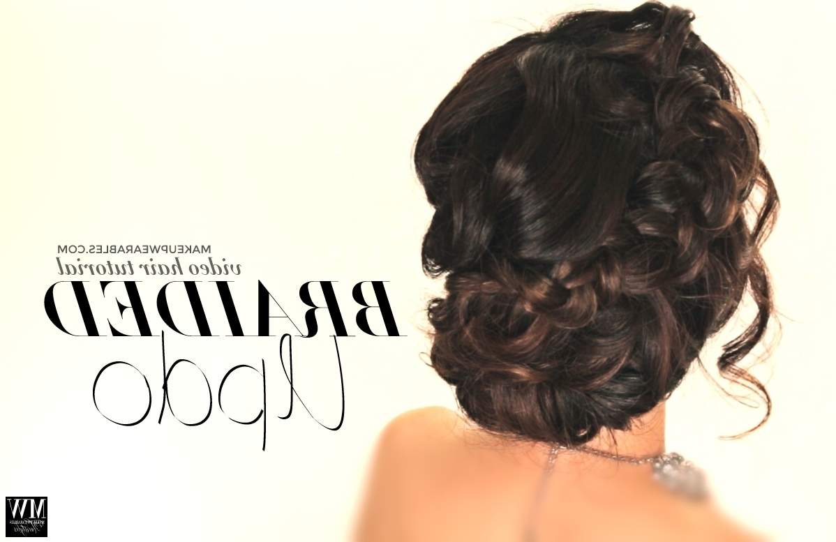 How To Voluminous Updo   Braided Bun For Prom Wedding   Cute Hairstyle Within Braided Bun Updo Hairstyles (View 15 of 15)