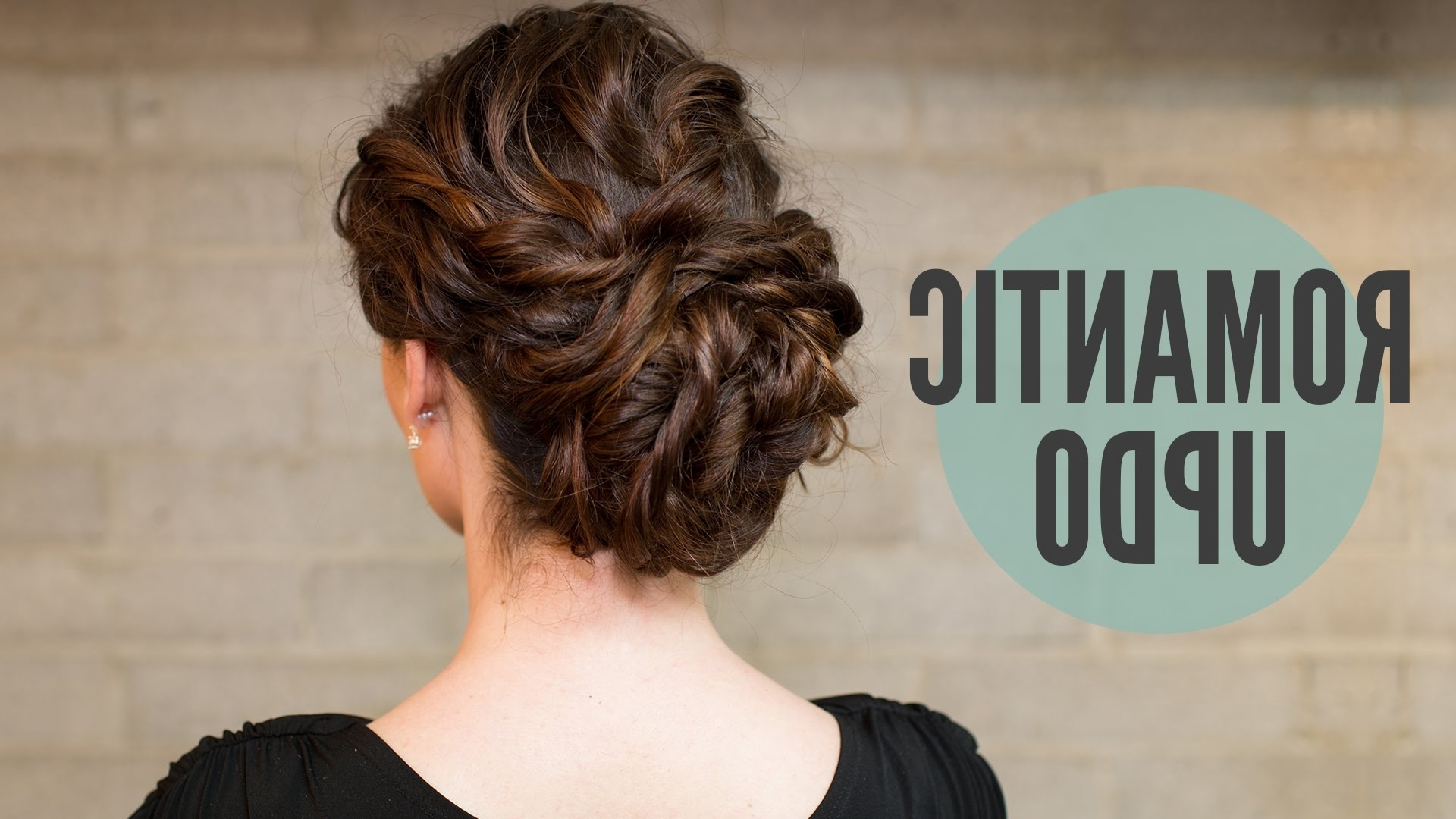 How To:curly Romantic Updo – Youtube With Updos For Curly Hair (View 7 of 15)