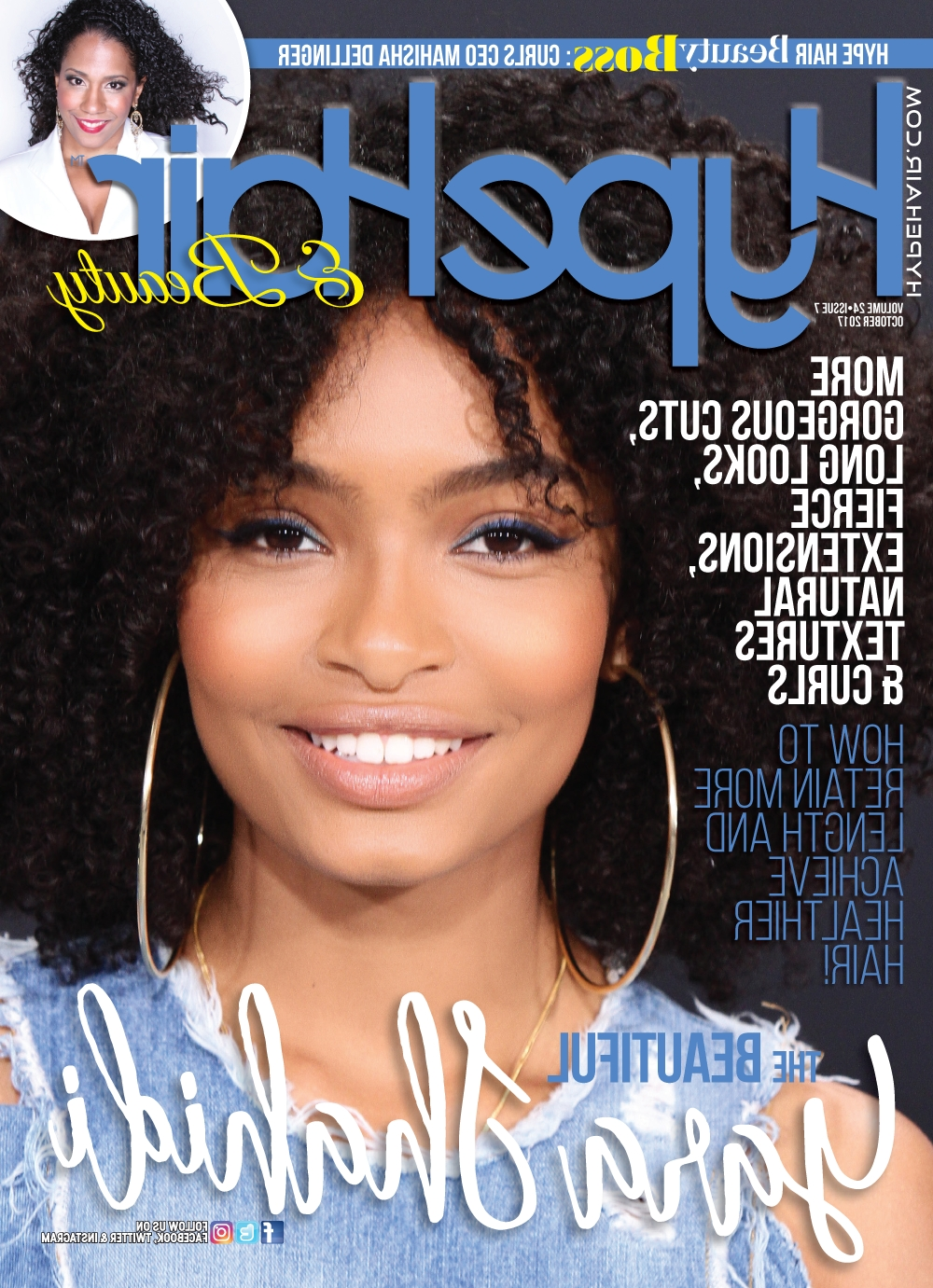 Hype Hair October 2017 X Yara Shahidi | Hype Hair Magazine Covers In Hype Updo Hairstyles (View 15 of 15)