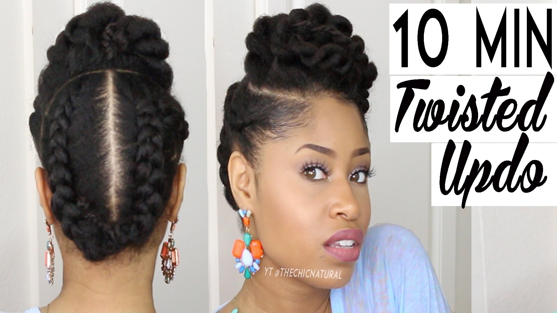 Image Result For Black Natural Hairstyles | Hair | Pinterest Regarding Quick Updo Hairstyles For Natural Black Hair (Gallery 9 of 15)