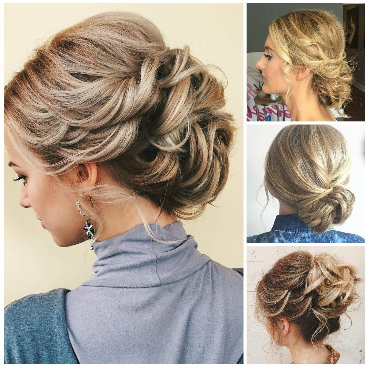 Image Result For Upstyles 2017 | Upstyles Wedding | Pinterest | Thin In Soft Updo Hairstyles For Medium Length Hair (Gallery 3 of 15)