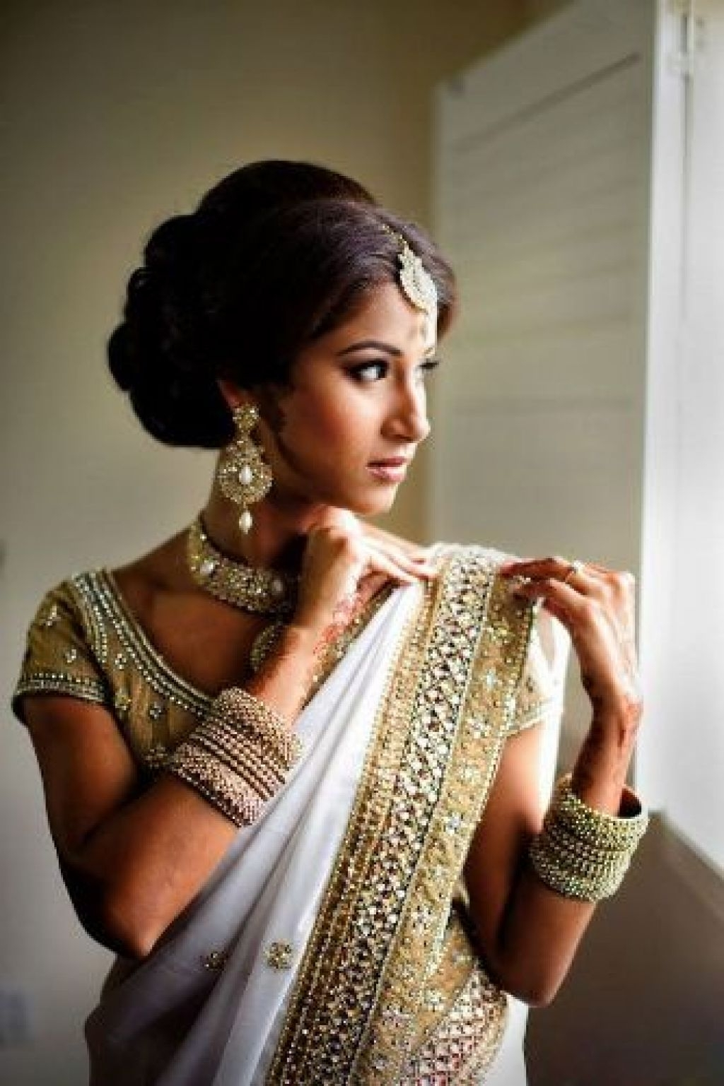 Indian Bridal Hairstyles For Curly Hair – Popular Long Hairstyle Idea With Regard To Indian Wedding Updo Hairstyles (View 14 of 15)