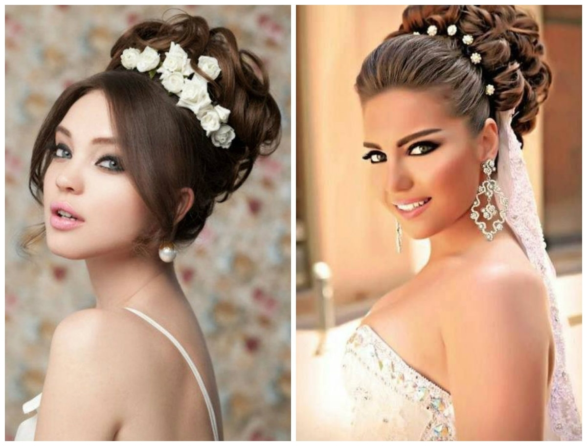 Inspiring Bridal Updo Hairstyle Ideas In Latest Styles – Hairzstyle Within Bride Updo Hairstyles (Gallery 7 of 15)