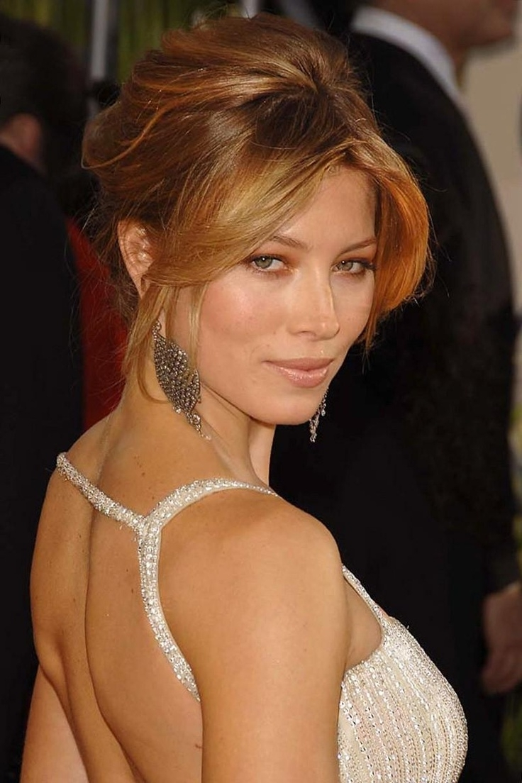 Jessica Biel Short Front Layers | Amazing Look | Pinterest | Jessica For Sexy Updo Hairstyles (View 9 of 15)