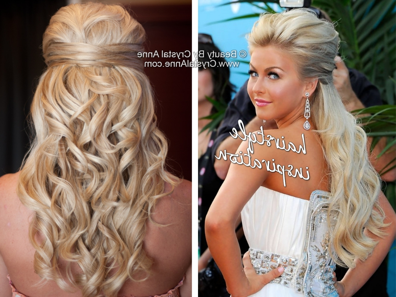 Julianne Hough Inspired Half Up Bridal Hairstyle – Houston Hair Inside Julianne Ho Hairstylesugh Updo Hairstyles (View 12 of 15)