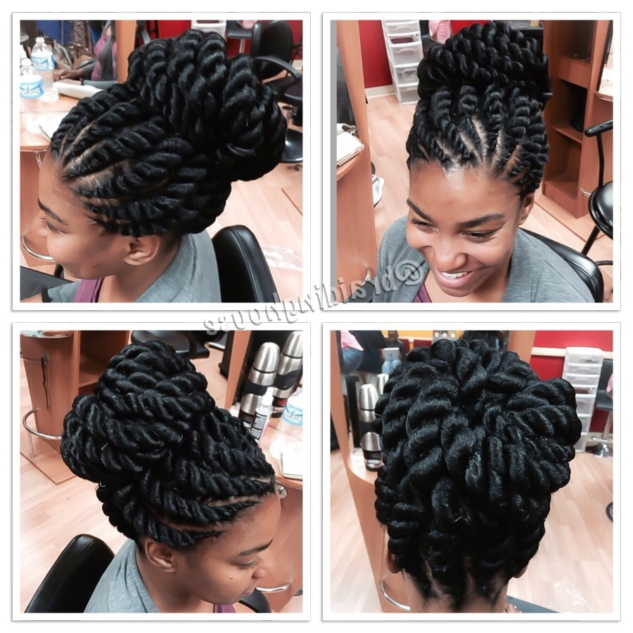 Jumbo Corntwists@braidinghouse | Flat Twists | Pinterest For Jumbo Twist Updo Hairstyles (View 9 of 15)