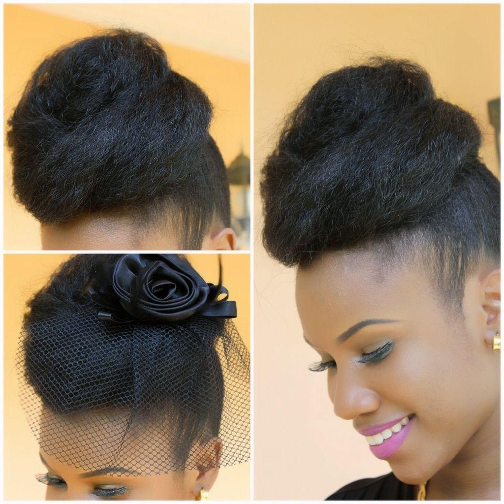 Kanekalon Hair Updo | Mega Bun With Marley Hair | Kyss My Hair With Natural Hair Updo Hairstyles With Kanekalon Hair (View 11 of 15)