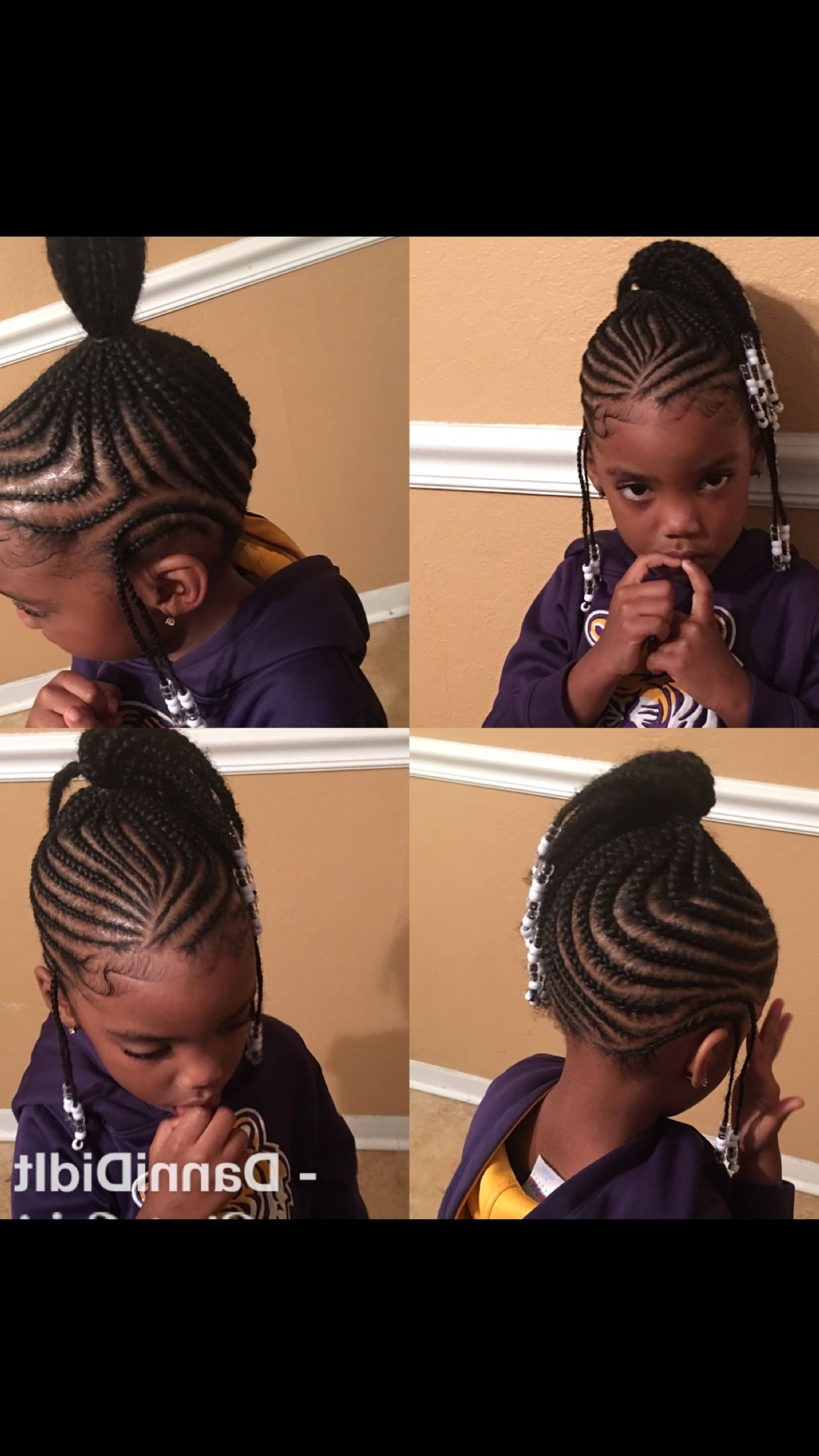Kids Braid Styles . Natural Hair, Protective Styles, Scalp Braids Regarding Scalp Braids Updo Hairstyles (Gallery 14 of 15)