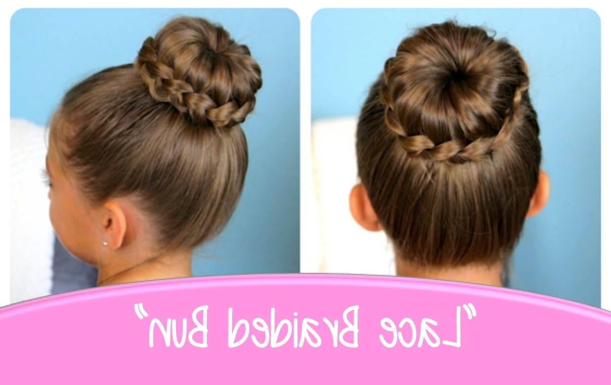 Lace Braided Bun | Cute Updo Hairstyles | Cute Girls Hairstyles Pertaining To Braids Updo Hairstyles (View 11 of 15)