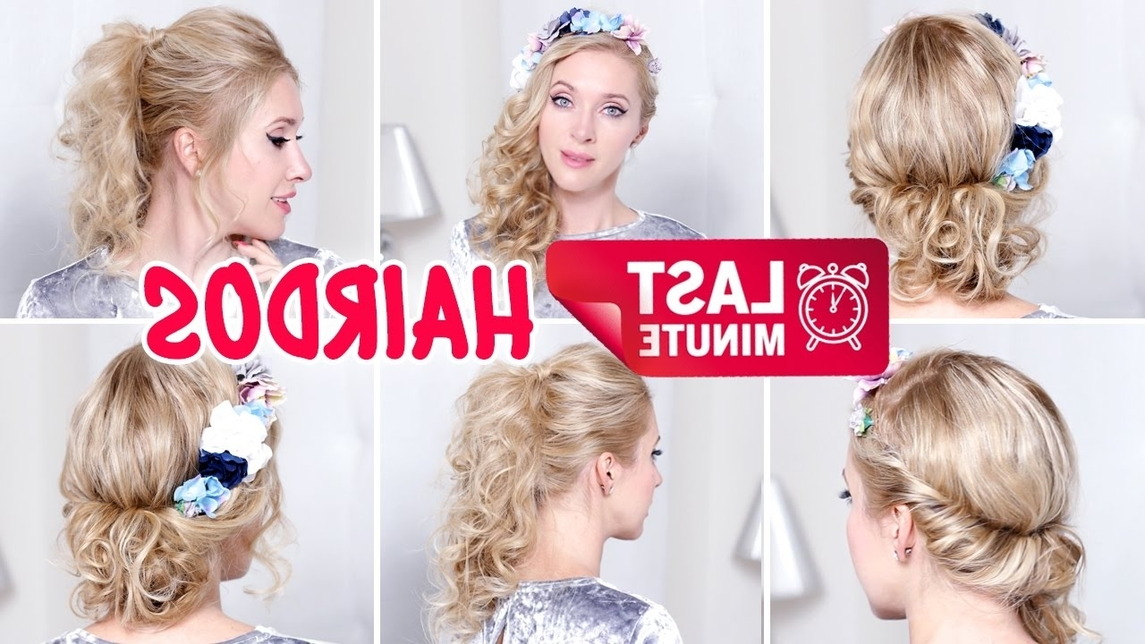 Last Minute Hairstylesfor New Year's Eve Party, Holidays, Medium For Spiral Curl Updo Hairstyles (View 8 of 15)