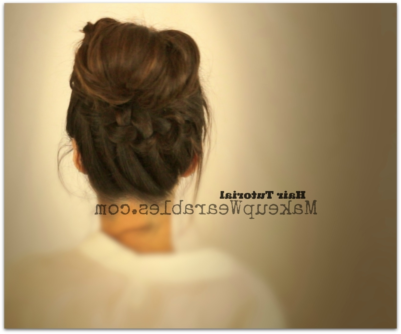 Learn 3 Cute, Everyday Casual Hairstyles Updos | Hair Tutorial Videos Inside Updo Hairstyles For School (View 11 of 15)