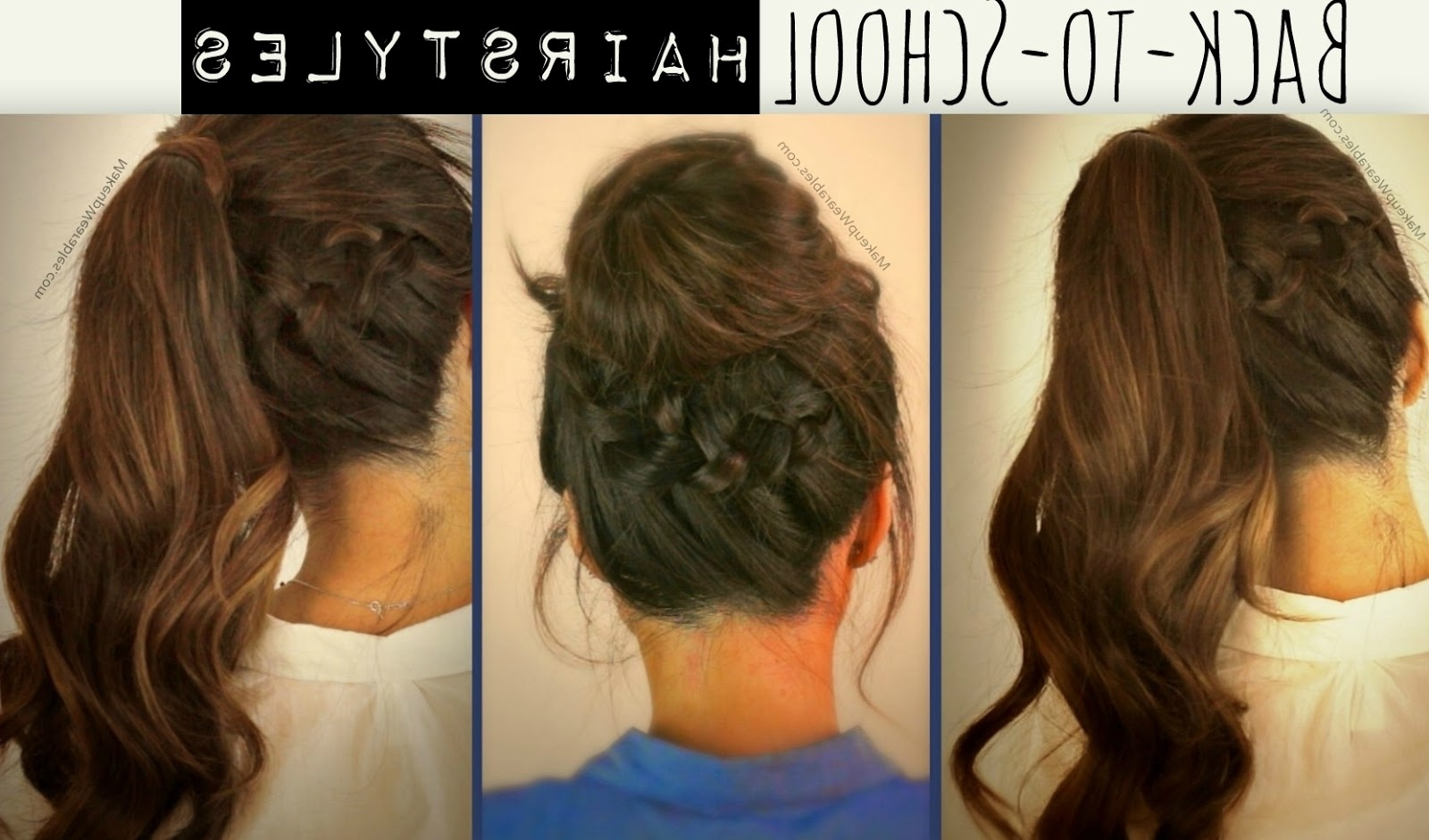 Learn 3 Cute, Everyday Casual Hairstyles Updos | Hair Tutorial Videos Pertaining To Cute Updos For Long Hair (Gallery 2 of 15)