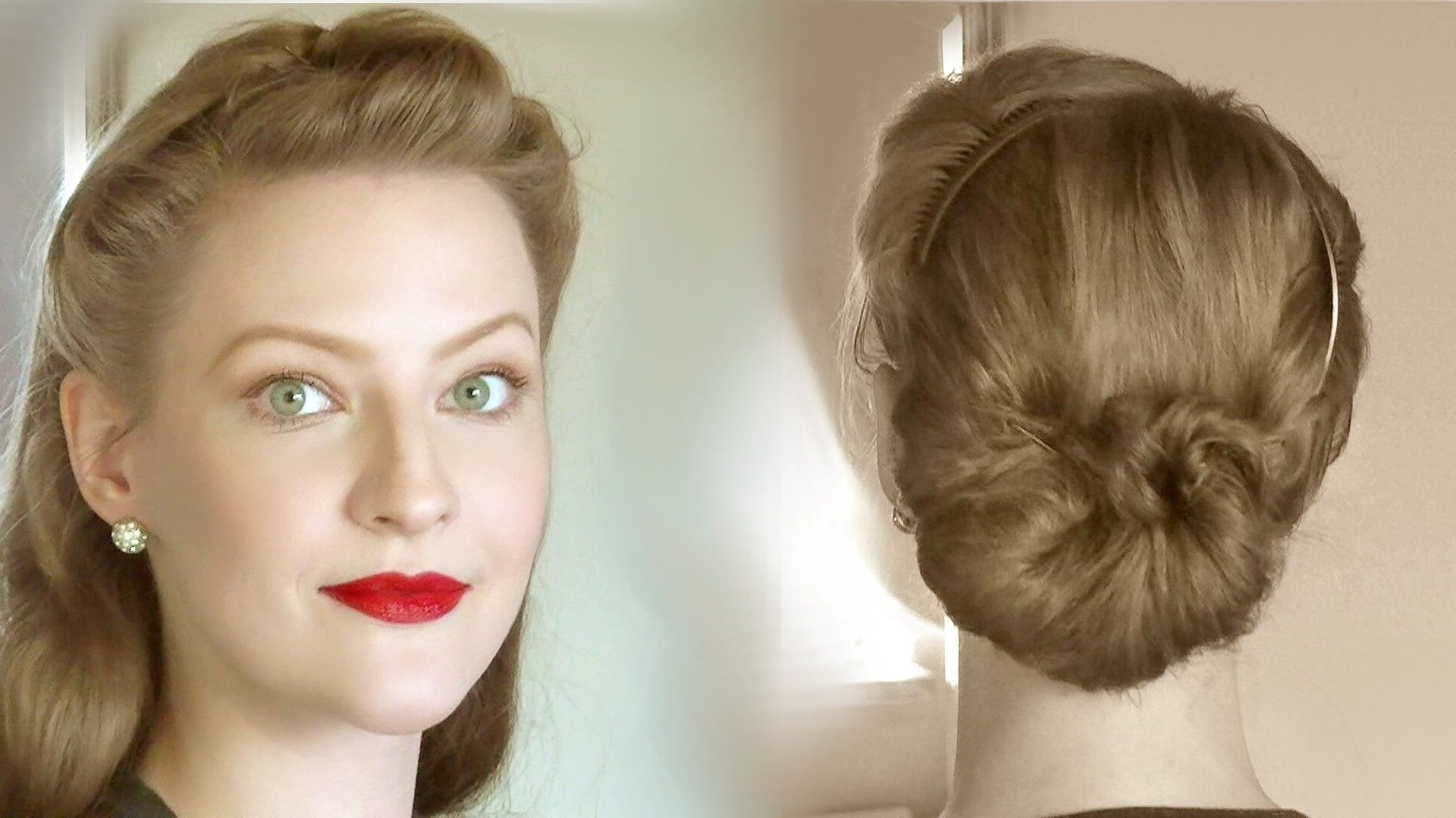 Lilly Jarlson – Creating Simple & Easy Retro Updos For Everyday Life Pertaining To Easy Vintage Updo Hairstyles (View 3 of 15)