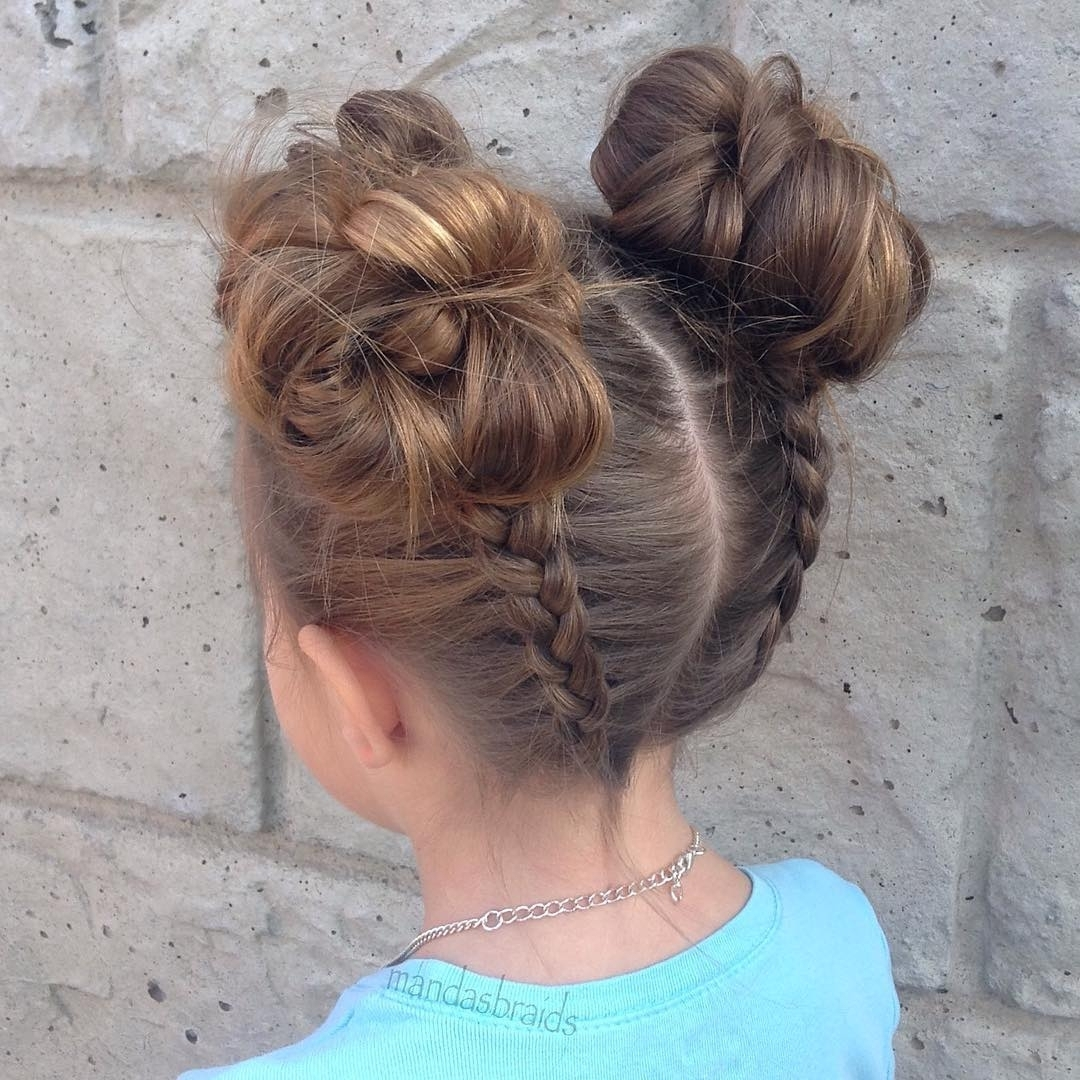 Little Girl Updo Hairstyles 40 Cool Hairstyles For Little Girls On Regarding Little Girl Updo Hairstyles (View 7 of 15)