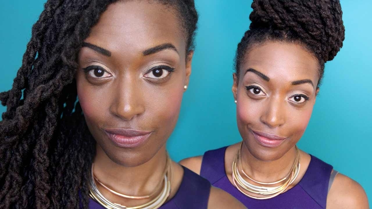 Loc Hairstyle Tutorial: 2 Strand Twists & 2 Strand Twist Updo – Youtube With Two Strand Twist Updo Hairstyles (View 5 of 16)