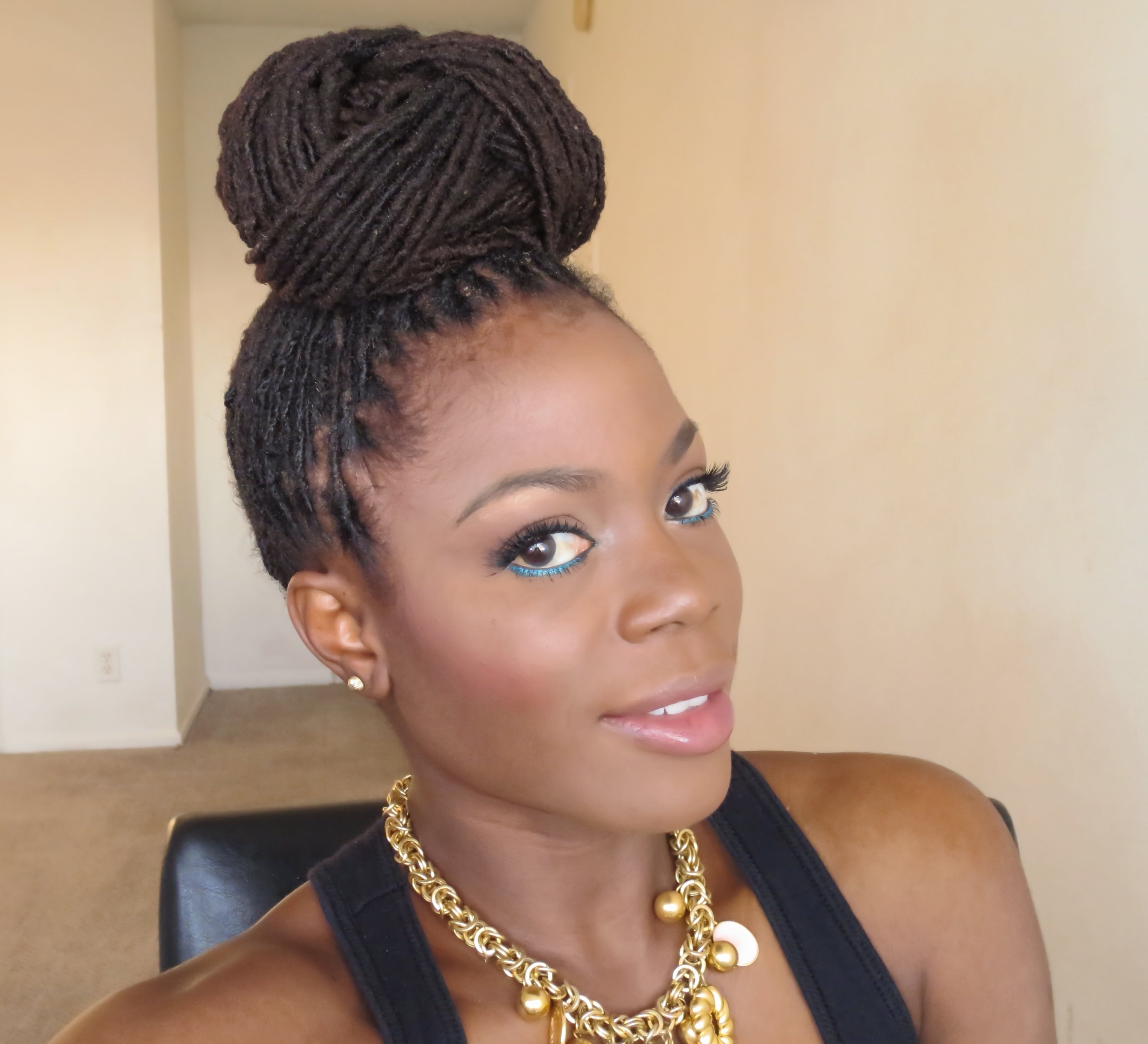 Loc Hairstyle Tutorial :beyonce Inspired Bun Updo/jungle Barbie With Updo Hairstyles For Long Locs (View 9 of 15)