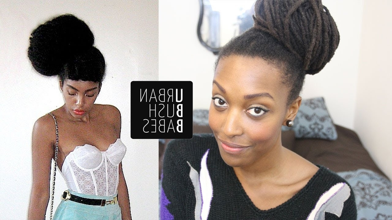 Loc Hairstyle Tutorial: Urban Bush Babe Bun | Ebony Hair Lock Styles Throughout Urban Updo Hairstyles (View 12 of 15)