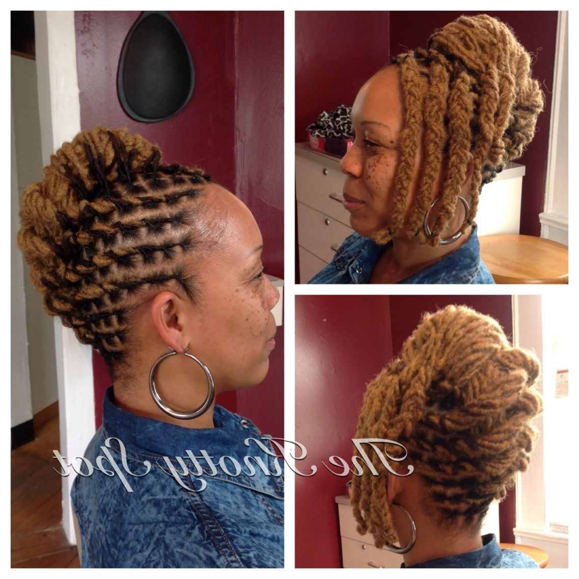 Loc Style Call (803) 237 1894 Or Book A Consultation Online At For Loc Updo Hairstyles (View 9 of 15)