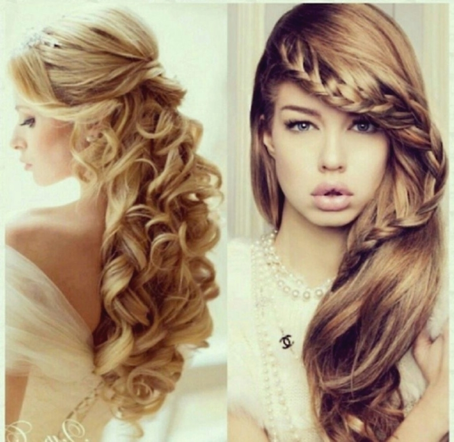 Long Curly Prom Hairstyles | Fade Haircut | Latest Hairstyles And Pertaining To Wavy Hair Updo Hairstyles (View 11 of 15)