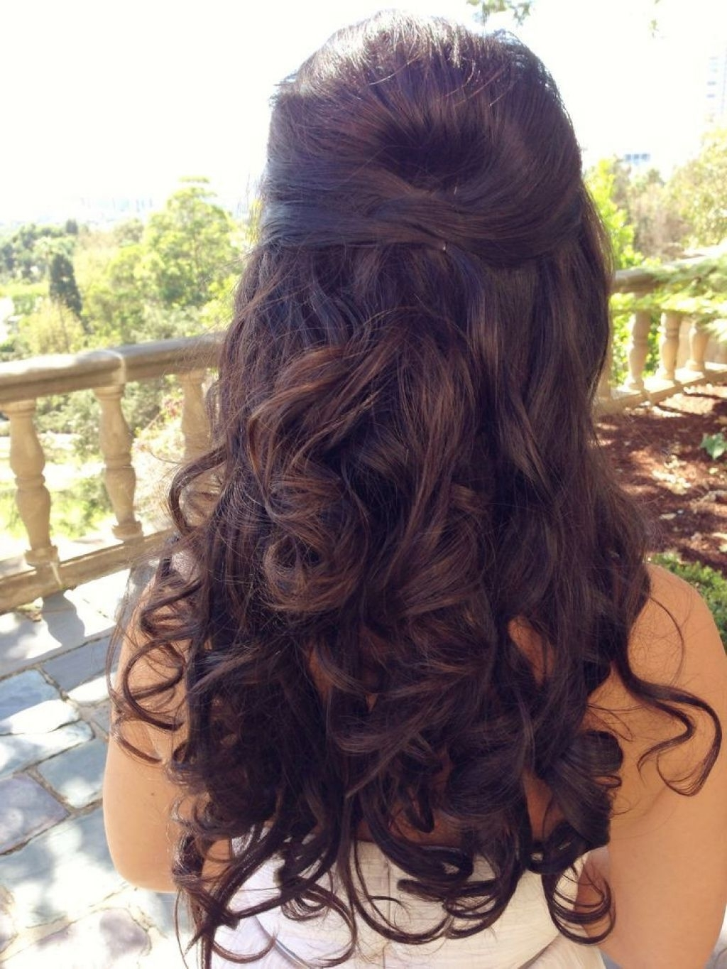 Long Wedding Hairstyle Half Up With Braided | Wedding Hairstyle Regarding Long Hair Half Updo Hairstyles (View 8 of 15)
