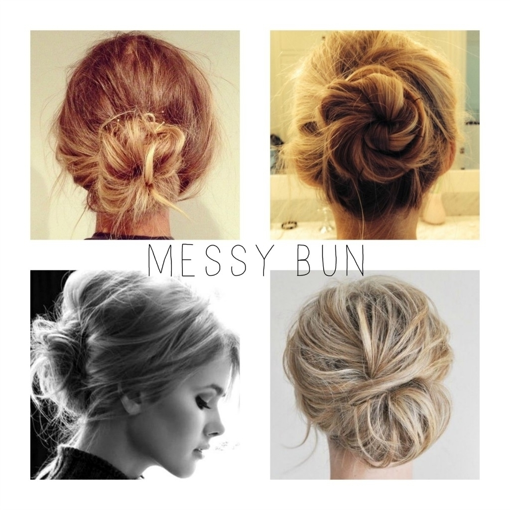 Loose Messy Bun Hairstyle – Popular Long Hairstyle Idea For Quick Messy Bun Updo Hairstyles (View 10 of 15)