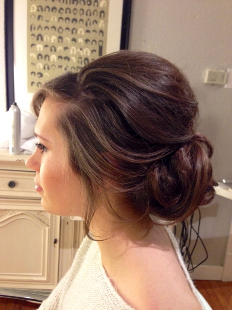 Loose Updos For Prom Soft Curled Updo For Long Hair Prom Or Wedding Regarding Soft Updos For Long Hair (View 11 of 15)