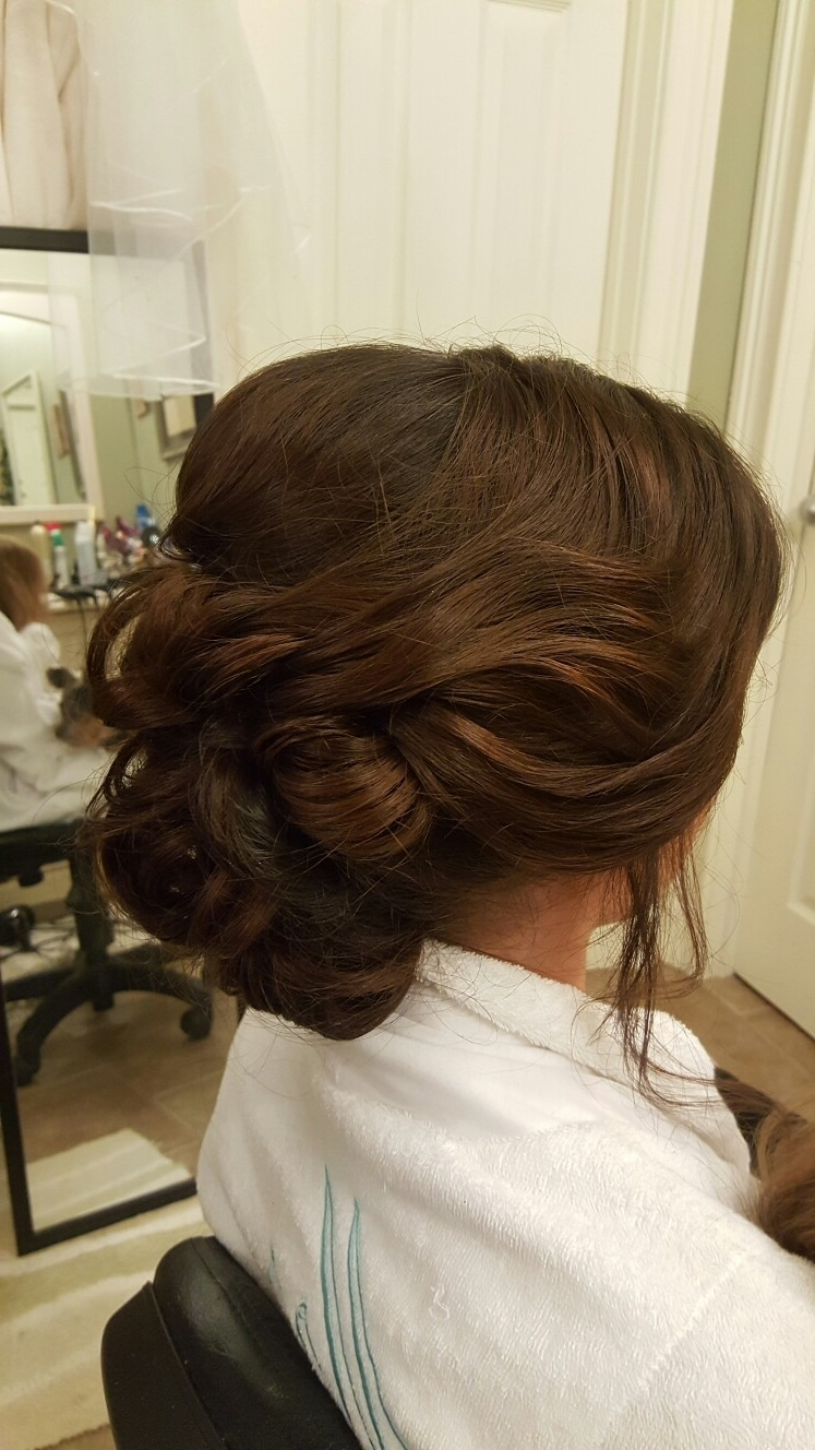 Loose, Wispy, Romantic, Looped Bun Upstyle // Hair | Hairstyle Intended For Wispy Updo Hairstyles (View 5 of 15)