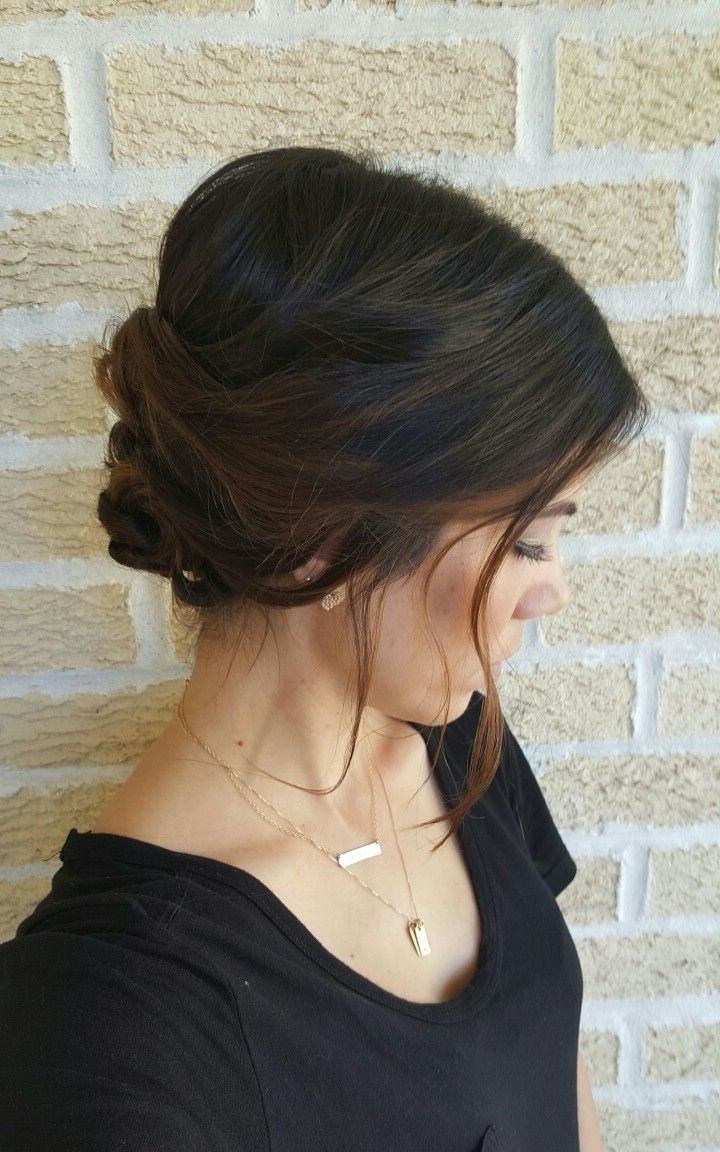 Loose, Wispy, Romantic, Twisted Bun Upstyle // Hair | Hairstyle Inside Wispy Updo Hairstyles (View 6 of 15)