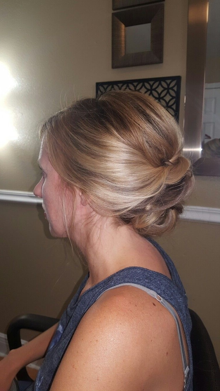 Loose, Wispy, Romantic, Twisted Bun Upstyle // Hair | Hairstyle Within Wispy Updo Hairstyles (View 7 of 15)