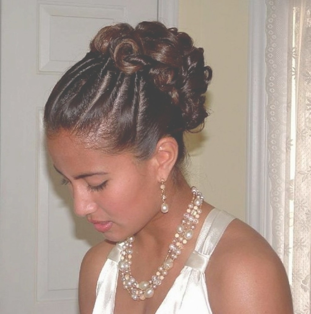Lovely Hairstyles: Charming Wedding Hairstyles Updos For Beautiful Pertaining To Updo Hairstyles For Weddings Black Hair (View 9 of 15)