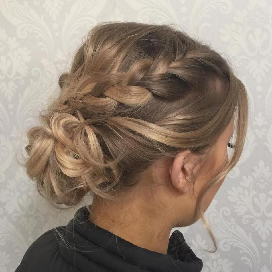 Low Bun With Braids For Thin Hair | Haircut Styles For Fine Hair With Regard To Updos For Thin Fine Hair (View 4 of 15)