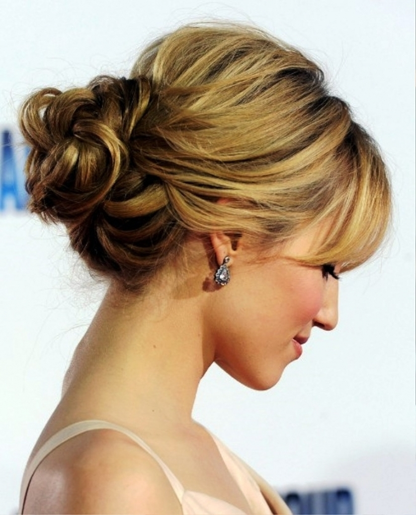Low Curly Bun Updo Tag Loose Bun Hairstyles For Wedding Archives Inside Curly Bun Updo Hairstyles (View 11 of 15)