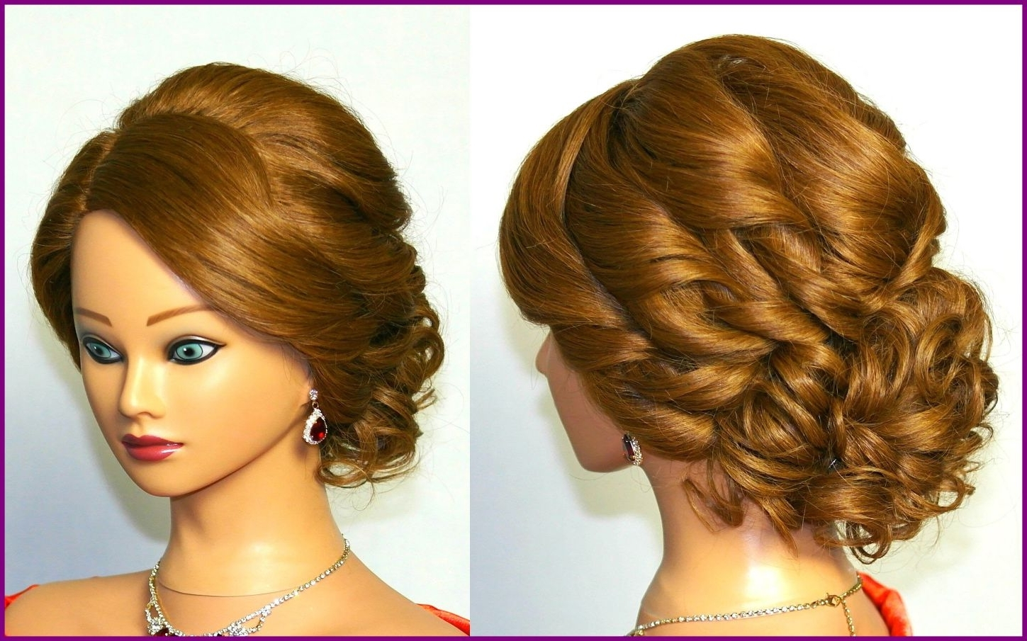 Marvelous For Medium Hair Hairstyle Women U Man Picture Curly Styles Pertaining To Updos For Curly Hair (View 8 of 15)