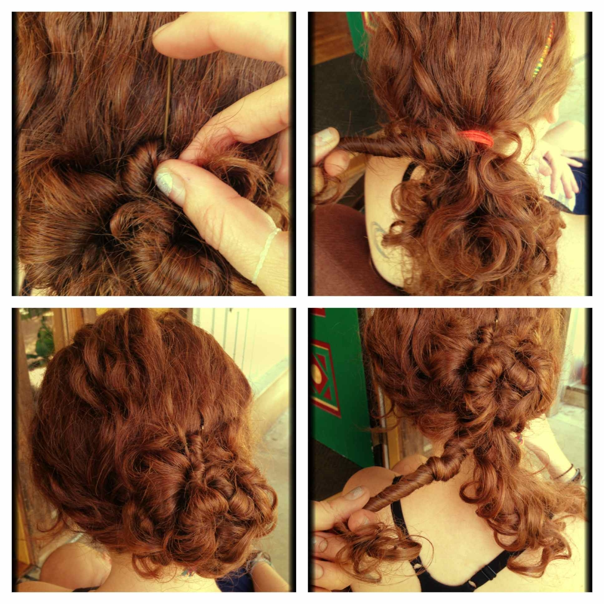 Massive Curly Hair Updo Thread : Curlyhair Pertaining To Hair Updos For Curly Hair (View 8 of 15)
