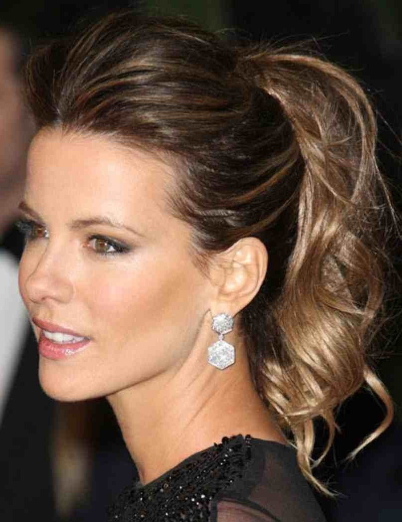 Medium Hair Ponytail Hairstyles For Medium Length Hairs Updos Hair Inside Ponytail Updo Hairstyles For Medium Hair (View 1 of 15)