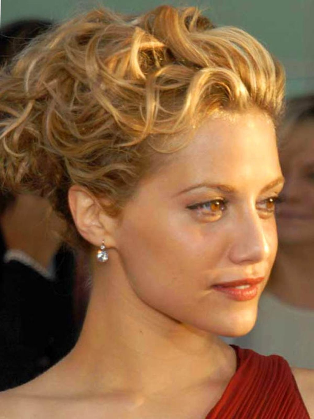 Medium Length Hair Curly Updo Hairstyles – Popular Long Hairstyle Idea For Updos For Medium Length Curly Hair (View 3 of 15)