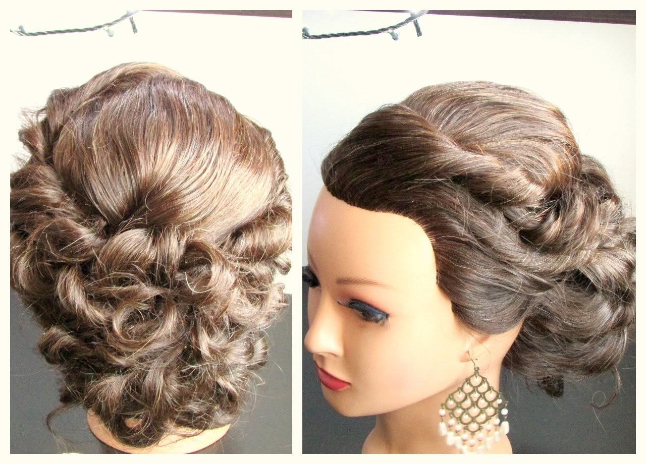 Medium Length Hairstyle, Prom Hairstyle,updo Hairstyle – Youtube With Regard To Wedding Updos For Medium Length Hair (View 15 of 15)