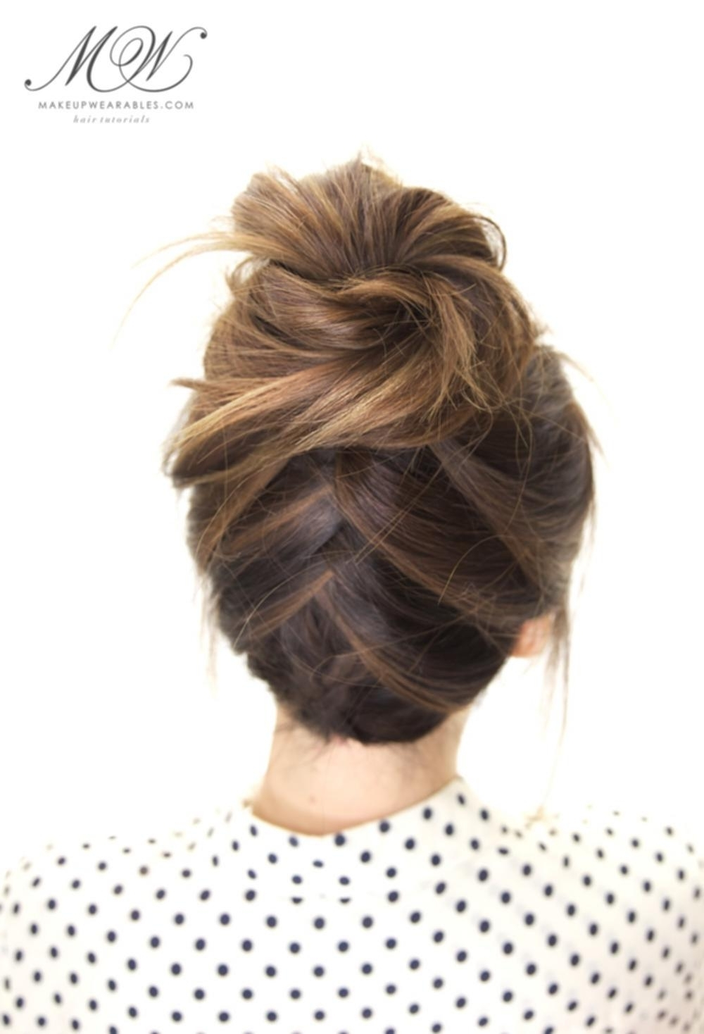 Messy Bun Hairstyles Tumblr Tuxedo Braid Bun Hairstyle Cute Everyday Throughout Updo Hairstyles For School (View 12 of 15)