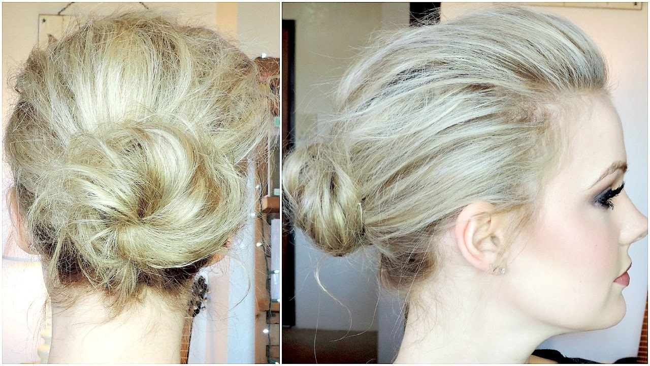 Messy Buns For Thin Hair – The Newest Hairstyles With Regard To Messy Updo Hairstyles For Thin Hair (View 12 of 15)