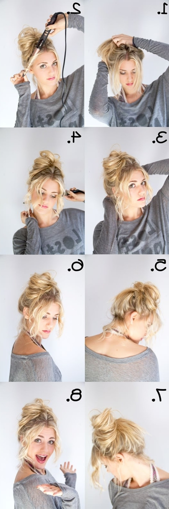 Messy Updo For Thin Hair 2018 – Forensicanth – Forensicanth Intended For Messy Updo Hairstyles For Thin Hair (View 13 of 15)