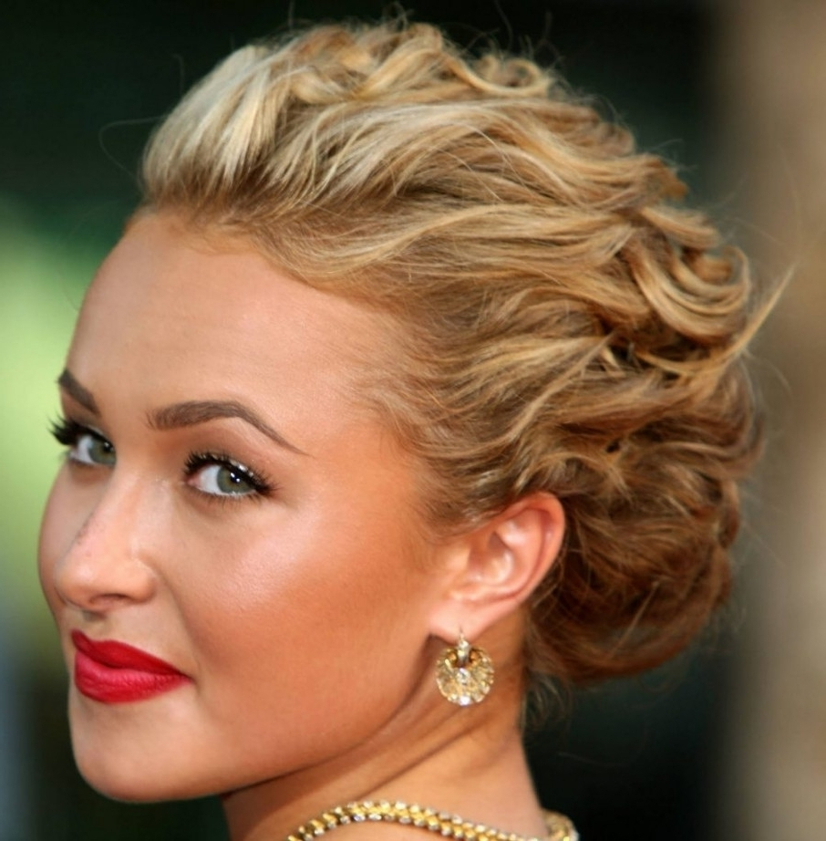 Messy Updo Hairstyles For Medium Length Hair Fotoshairstyles Throughout Messy Updos For Medium Length Hair (View 7 of 15)