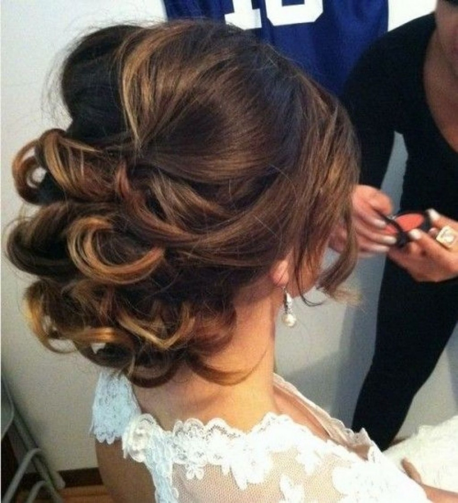 Photo Gallery Of Messy Updo Hairstyles For Wedding Viewing 10 Of 15