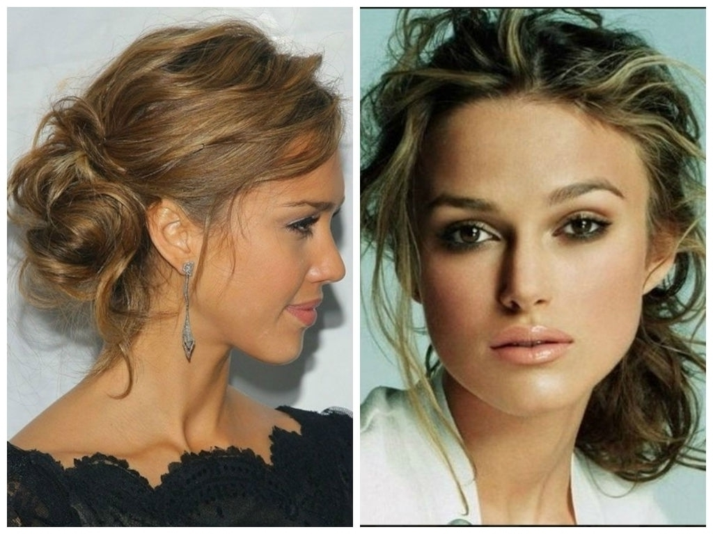 Messy Updo Hairstyles Youtube Bun Updos For Medium Length Hair Pertaining To Messy Updos For Medium Length Hair (View 2 of 15)