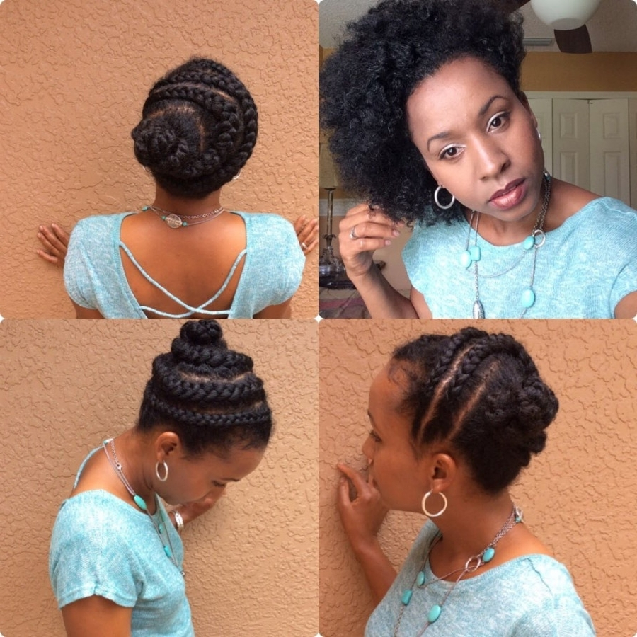 Photo Gallery Of Updo Hairstyles For Medium Length Natural Hair