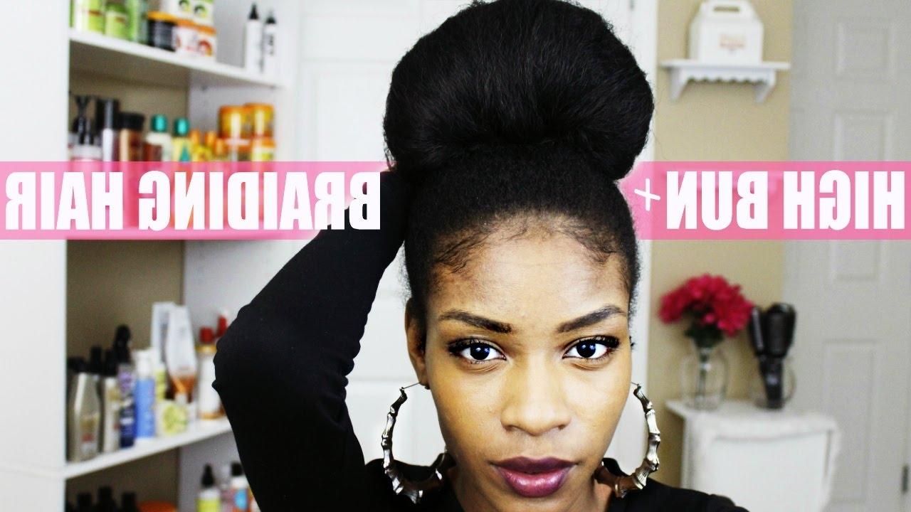 Natural Hair Bun With Kanekalon Braiding Hair – Youtube With Natural Hair Updo Hairstyles With Kanekalon Hair (View 14 of 15)
