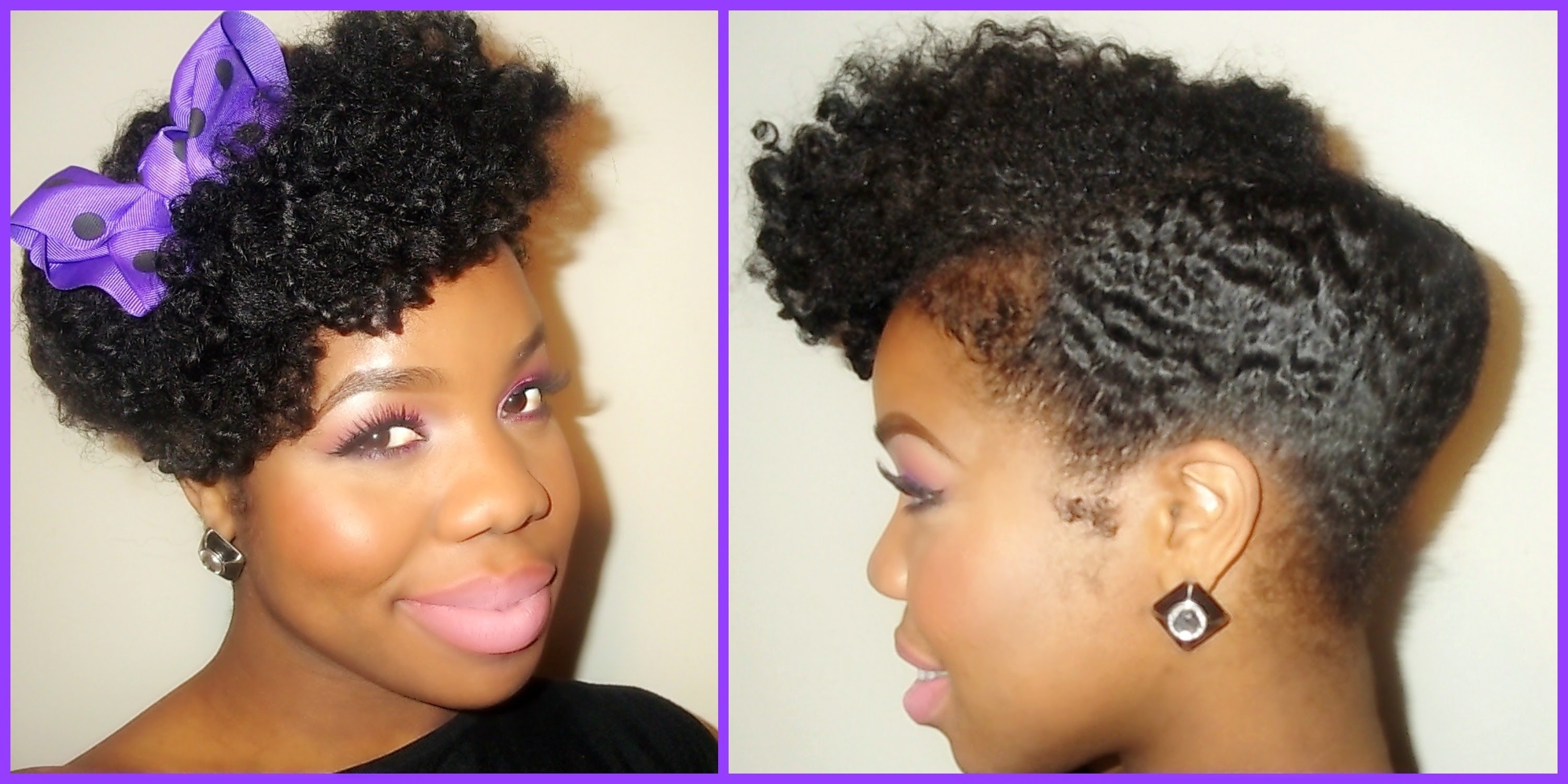 """Natural Hair"""": Chic, Sexy, Elegant!!! Updo – Youtube For Black Natural Updo Hairstyles (View 8 of 15)"""