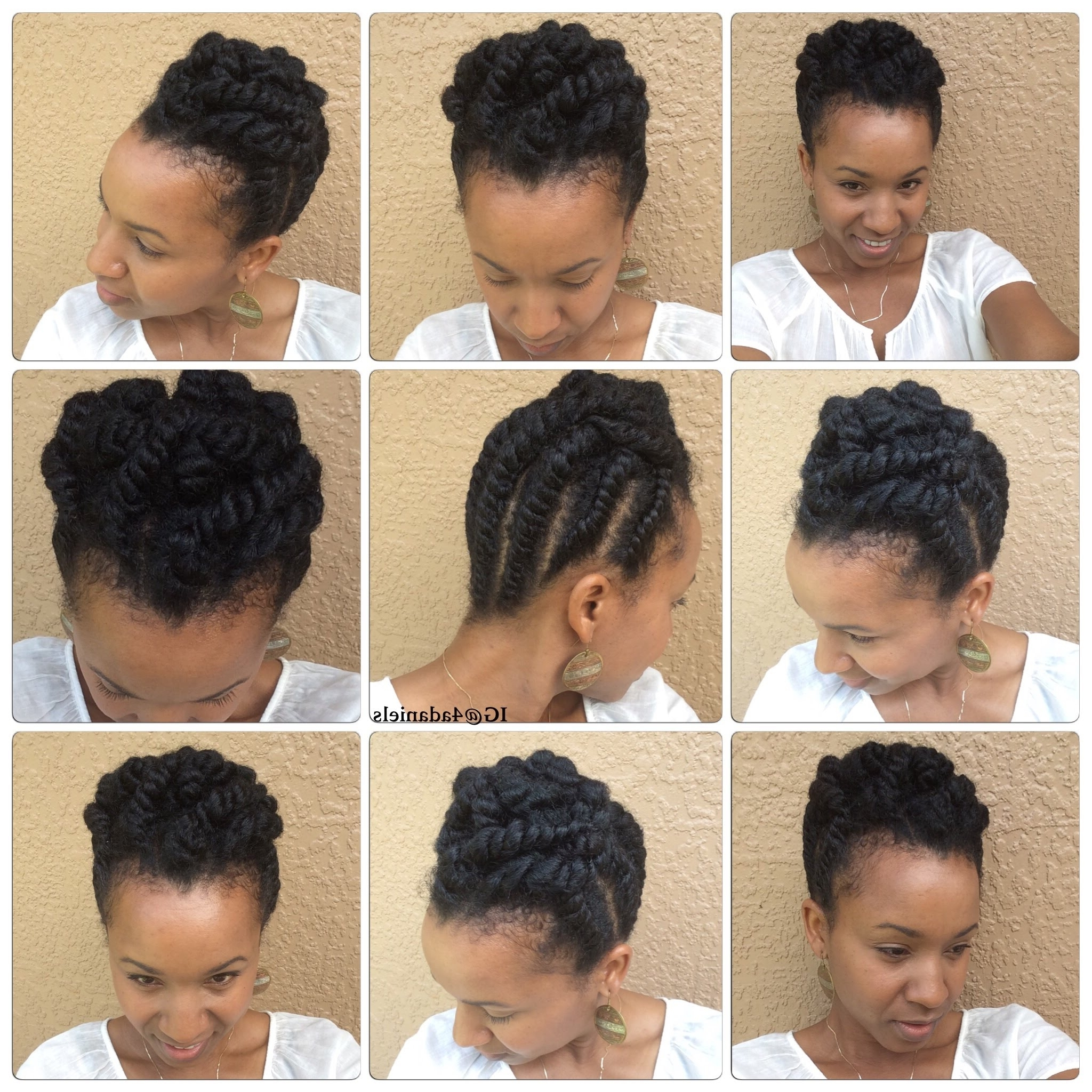 Natural Hair| Chunky Flat Twist Protectivestyle Updo Short/medium Intended For 2 Strand Twist Updo Hairstyles (View 7 of 15)