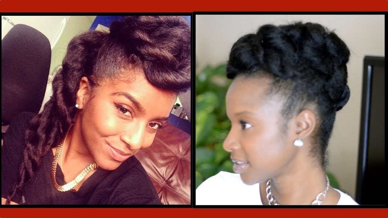Natural Hair Chunky Two Strand Twist Updo W/ @naturalneiicey – Youtube Pertaining To Two Strand Twist Updo Hairstyles For Natural Hair (View 6 of 15)